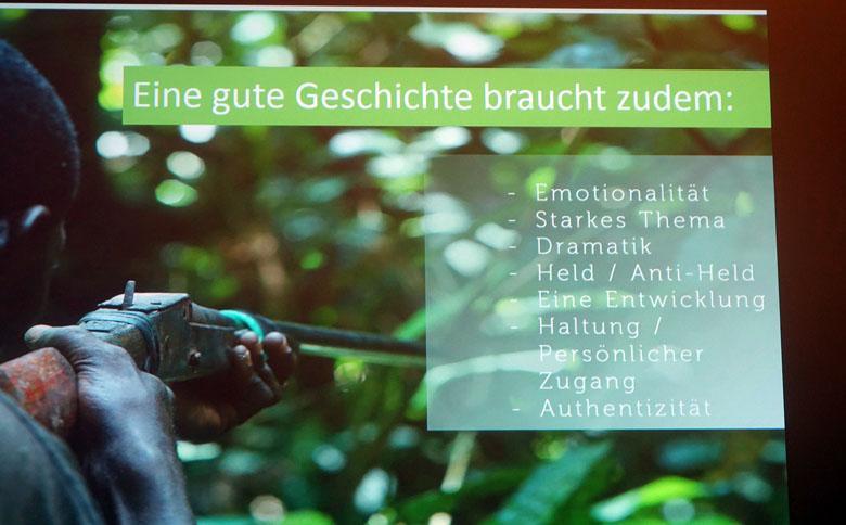 Checkliste and Leinwand projiziert
