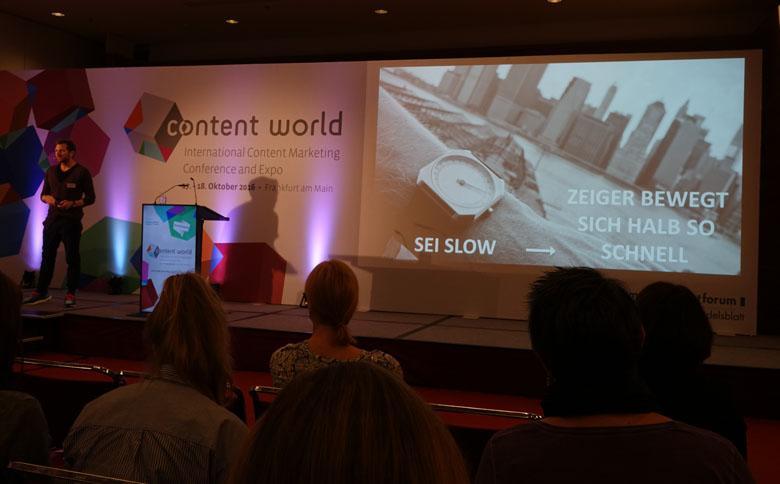 Vortrag zum Thema Content-Marketing