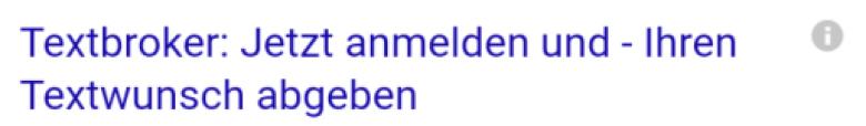 AdWords-Anzeigen-Headline