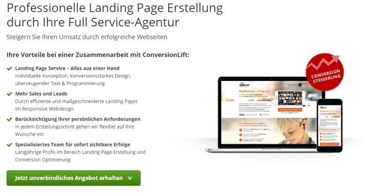 Beispiel Landingpage