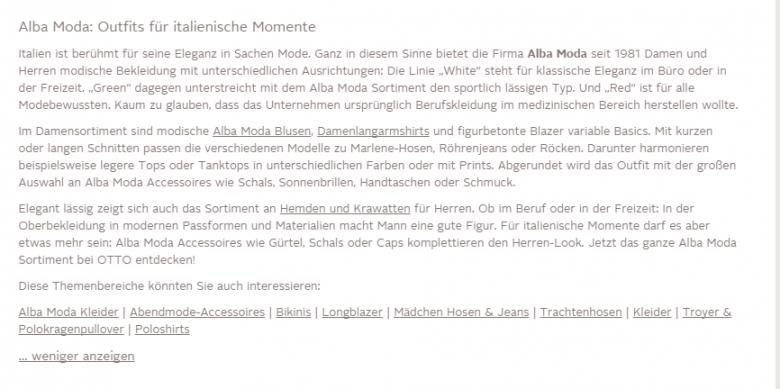 Markenbeschreibung otto.de