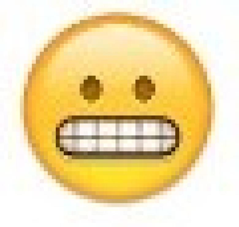 Smiley mit knirschenden Zähnen