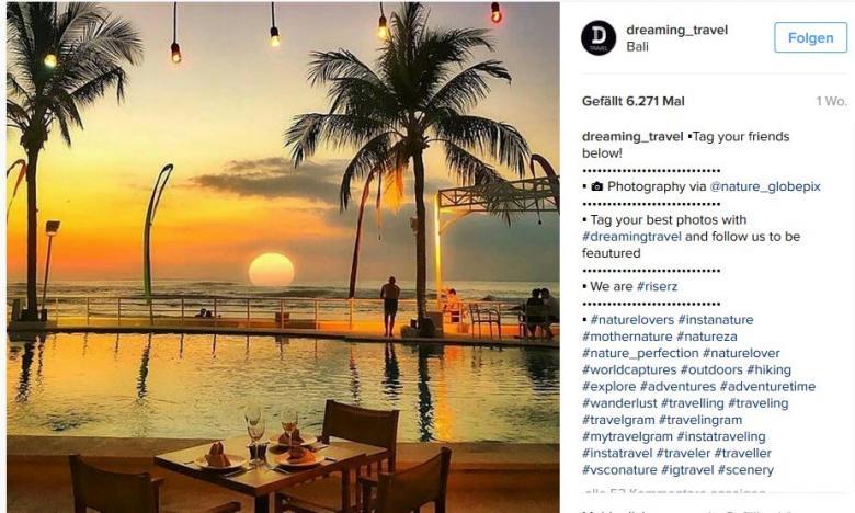 Instagram Reiseaccount