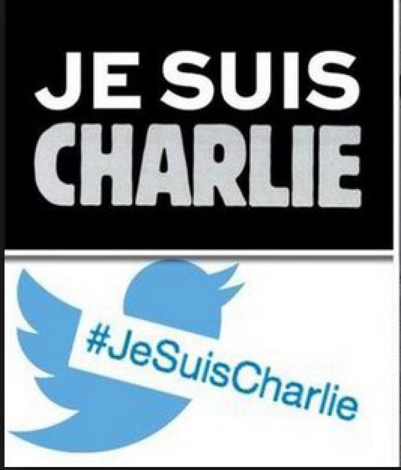 Twitter mit Hashtag Je suis Charlie