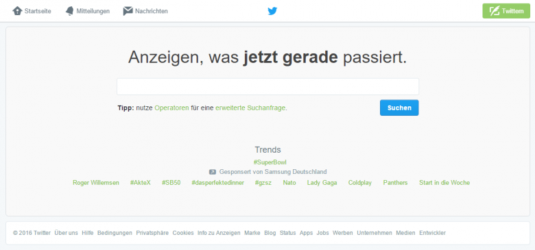 Twitter Suche