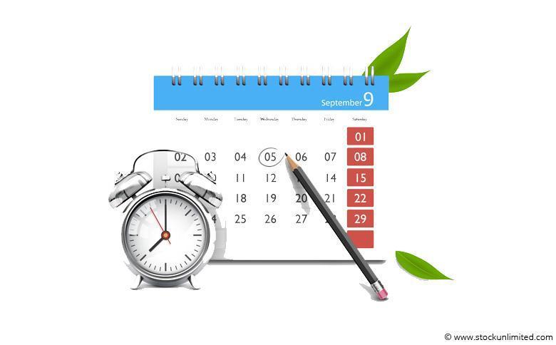 Kalender, Uhr, Stift