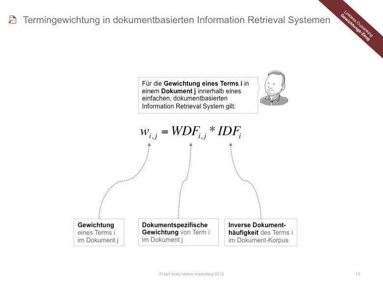 Termgewichtung in dokumentbasierten Information Retrieval Systemen