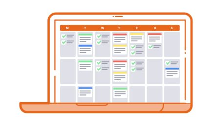 Screen mit Content-Kalender