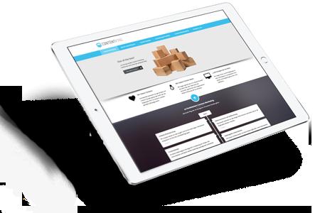 Tablet avec website de Contentking.de