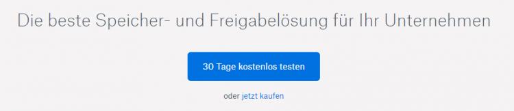 Button auf einer Landingpage