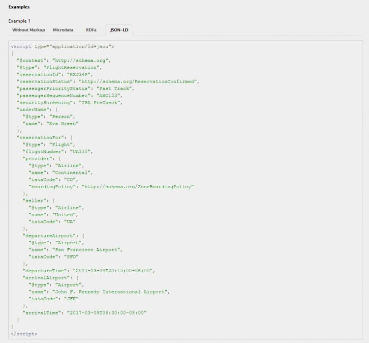 Beispiel für Rich Snippet Markup mit JSON-LD