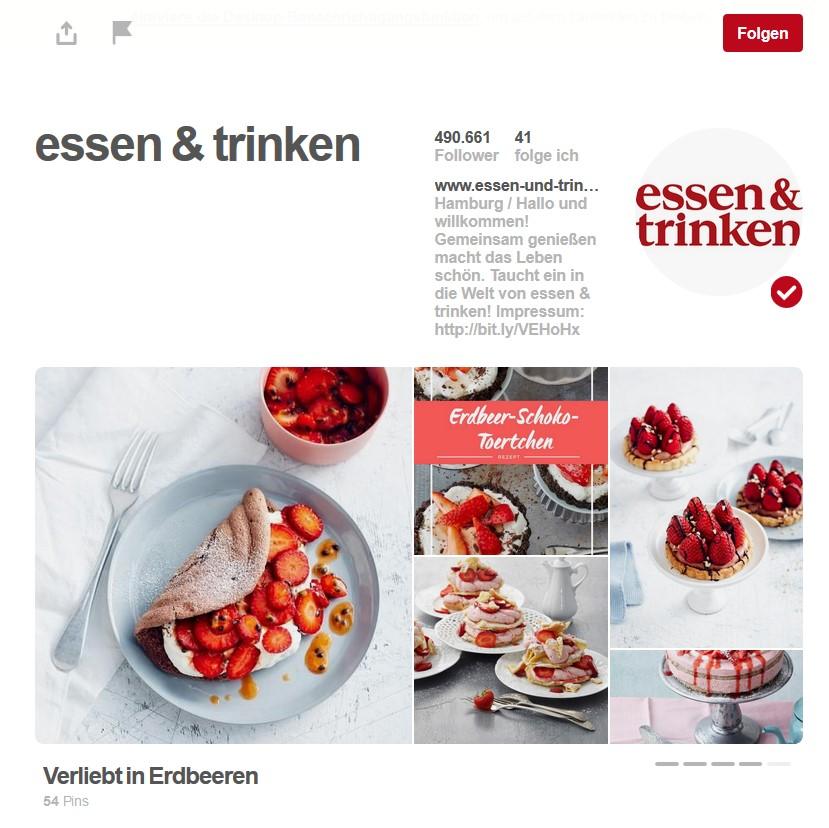 essen & trinken Pinterest-Seite