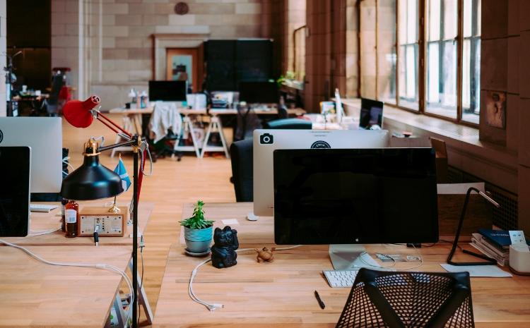 Arbeitsplätze im Coworking-Space