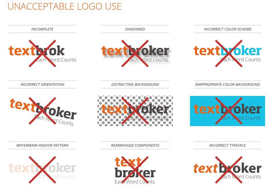 verschiedene unerlaubte Varianten Verwendung des TB-Logos