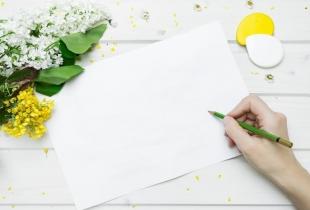 Hand, Stift, Blatt, Blumen