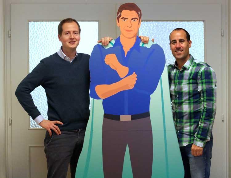 Die beide Gründer des Start-ups Für-Gründer.de