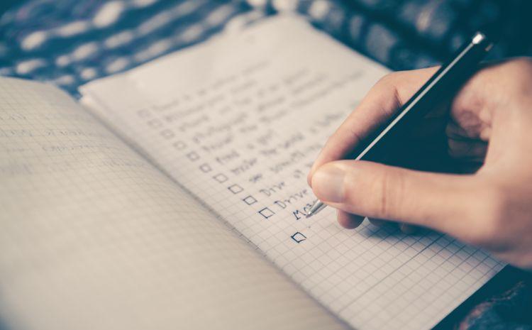 Notebook mit Checklist