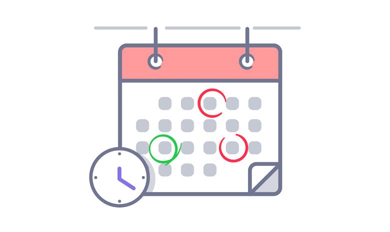 Newsletter-Kalender