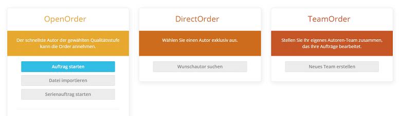 Ordertypen
