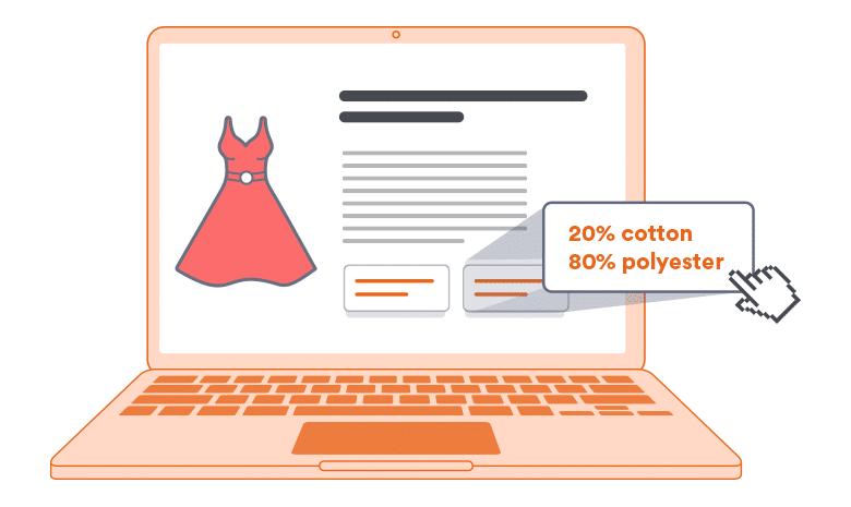 Textilkennzeichnung in der Artikelbeschreibung