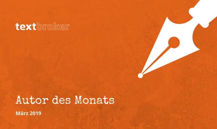 Blogbanner für den Beitrag Autor des Monats für März 2019