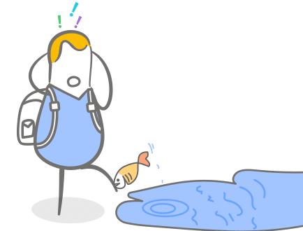 Vom Fisch gebissen