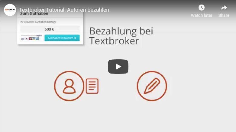 Textbroker Autorenbezahlung