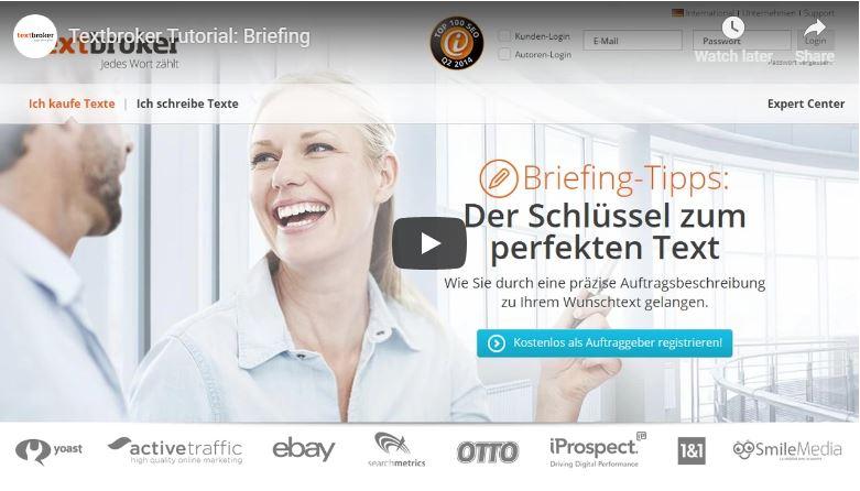 Textbroker Briefing-Tipps