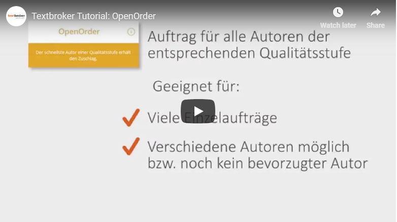 Textbroker OpenOrder