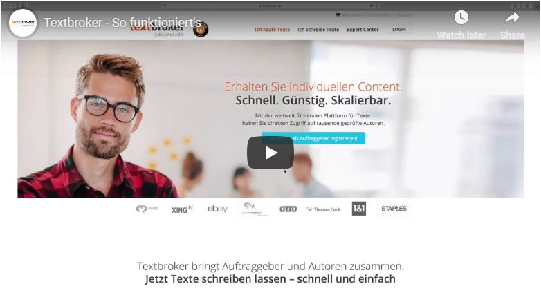 So funktioniert Textbroker