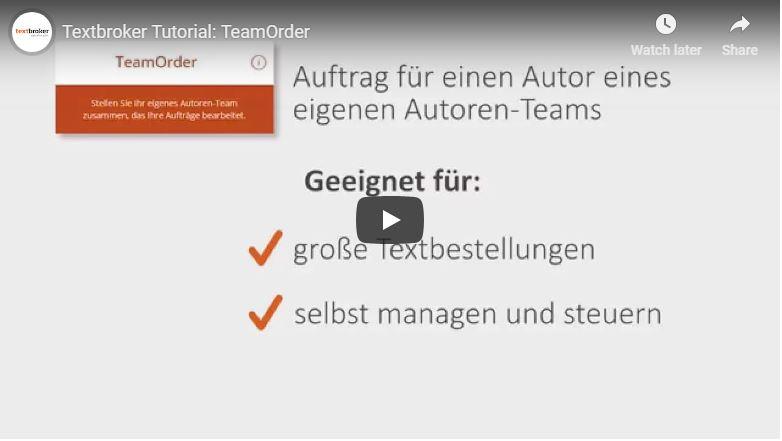 Textbroker TeamOrder