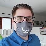 Autor des Monats Mai 2020: Selfie des Autors mit Atemmaske