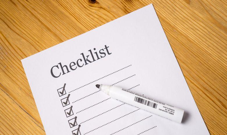 Checkliste abarbeiten