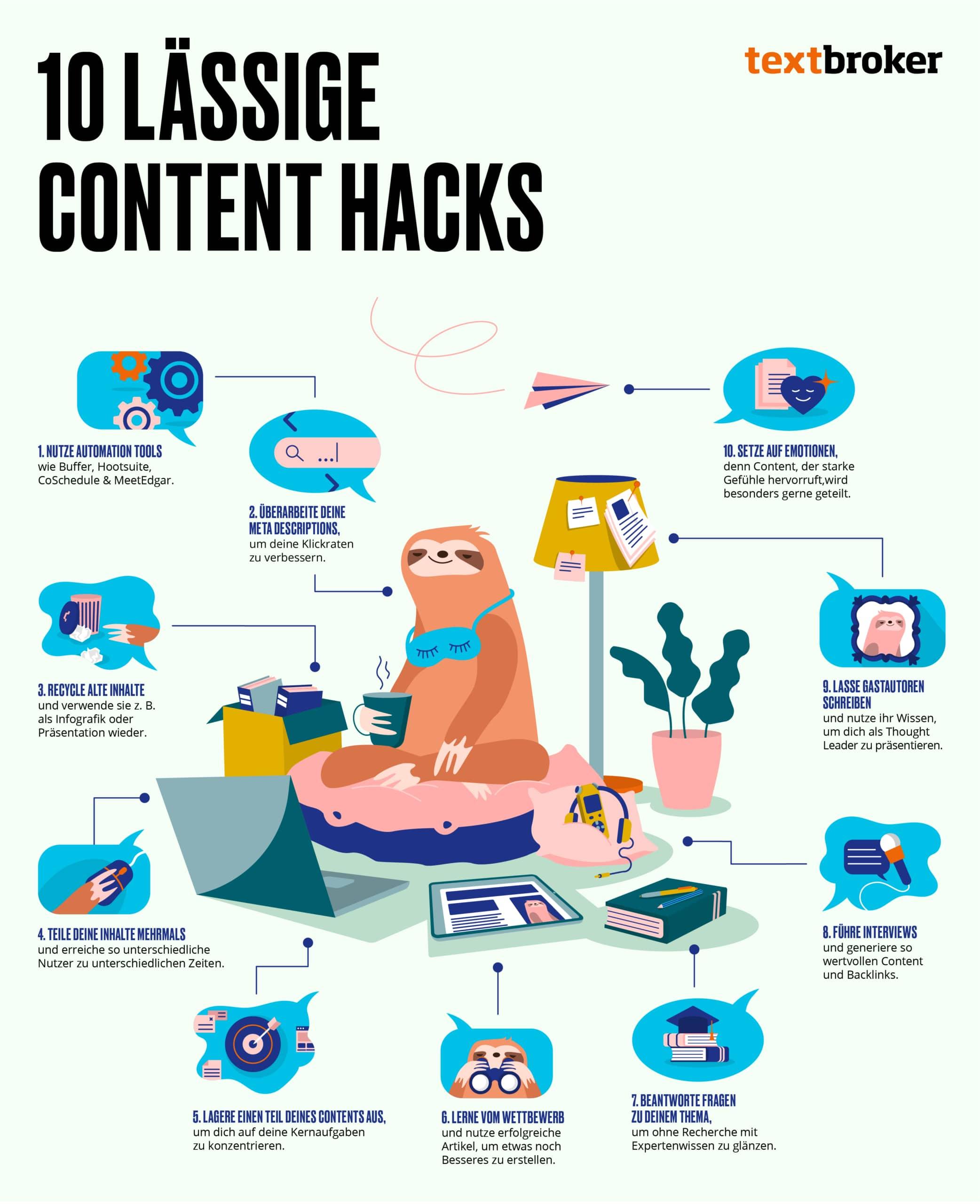 Lässige Content Hacks